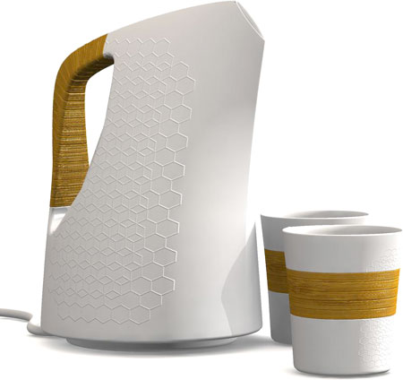 Cordless Ceramic Kettle  XYZ Design