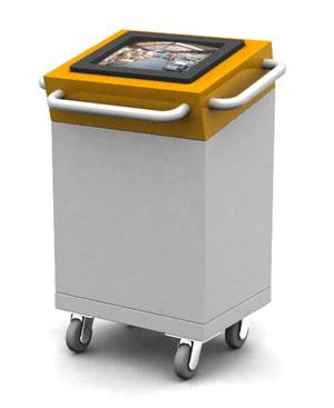 Industrial mobile kiosk