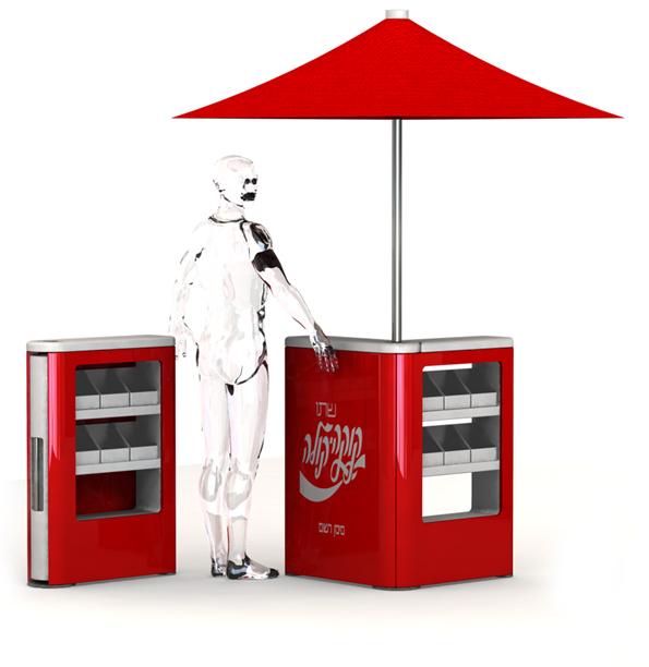 Mobile vending kiosk