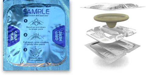 Condom applicator generation I